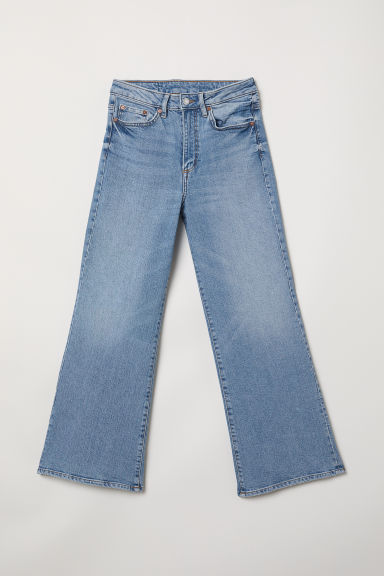 Wide High Ankle Jeans - 浅牛仔蓝 -  | H&M CN