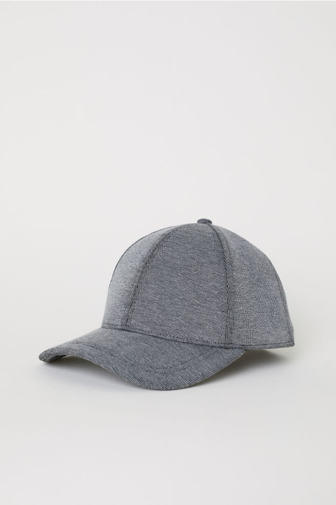 e346490e8cb6b8 Cotton-blend cap - Dark grey marl - Men | H&M ...