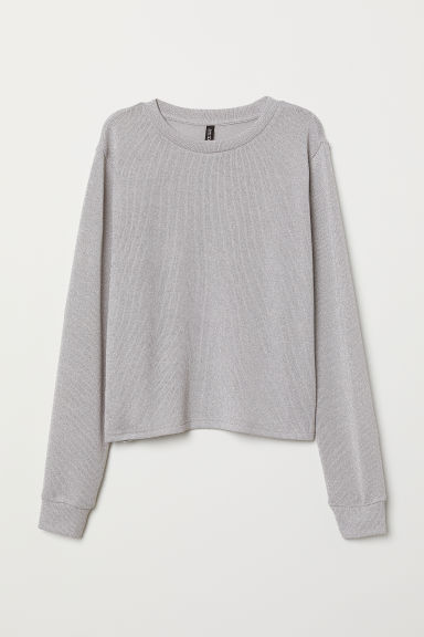 Glittery jumper - Silver-coloured -  | H&M CN
