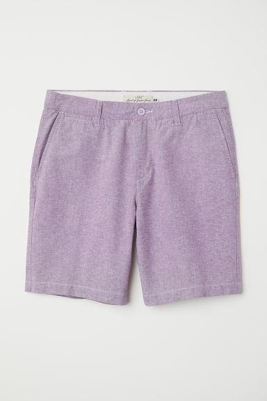 Chino shorts - Purple - Men | H&M
