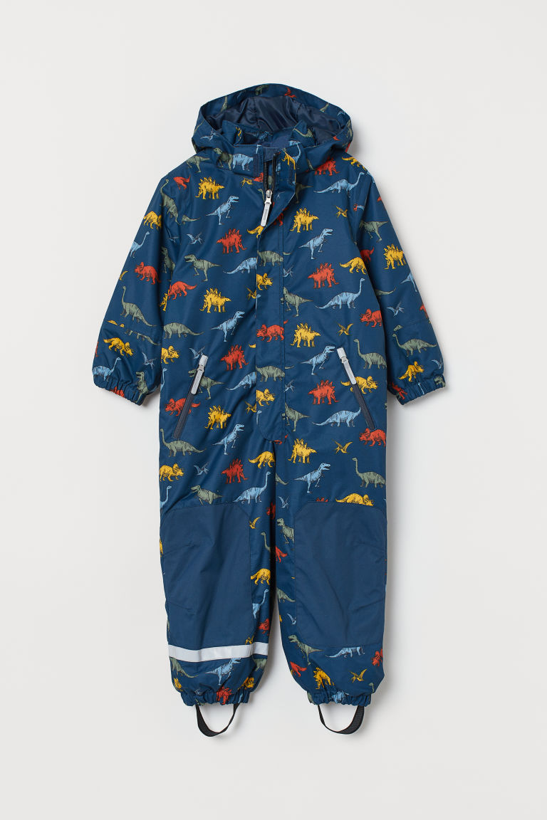 Waterproof all-in-one suit - Dark blue/Dinosaurs - Kids | H&M