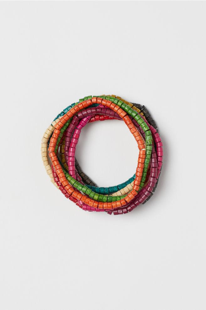9 Pack Wooden Bracelets