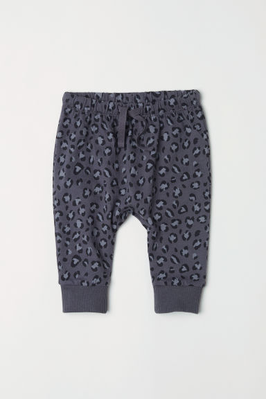 Jersey trousers - Dark grey/Leopard print - Kids | H&M