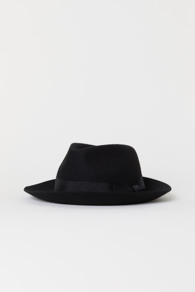 Felted Wool Hat - Black - Men | H&M US