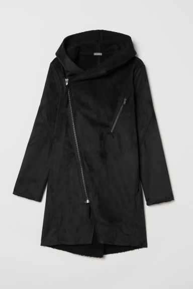 Pile-lined jacket - Black - Men | H&M