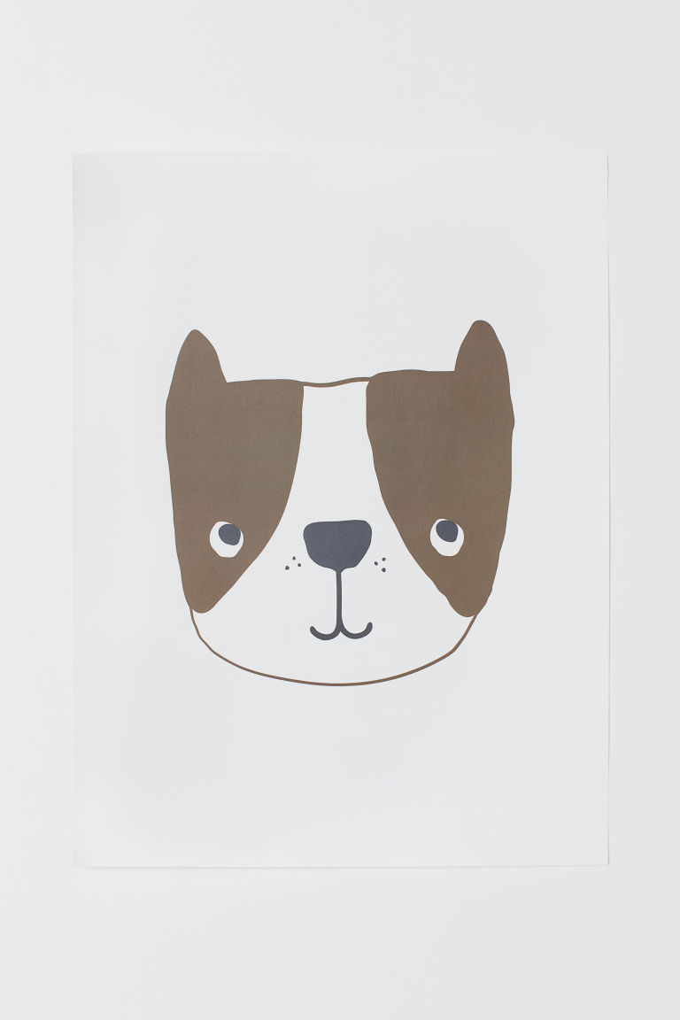 Poster - Vit/Hund - Home All | H&M FI