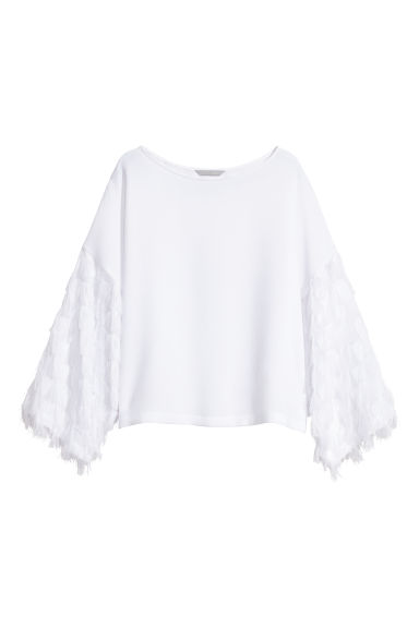 Wide top - White -  | H&M CN
