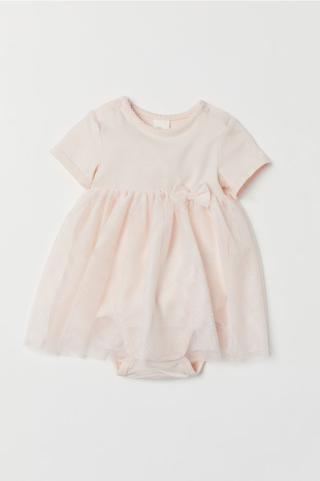 Tulle Dress with Bodysuit - Light pink - Kids  b81a25f3a490