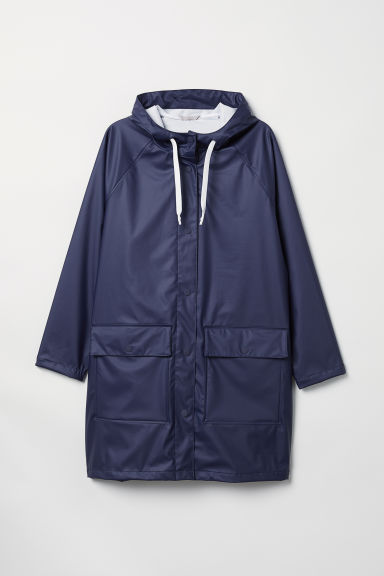 H&M+ Hooded rain jacket - Dark blue - Ladies | H&M CN