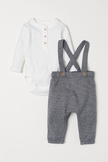 Henley bodysuit and trousers