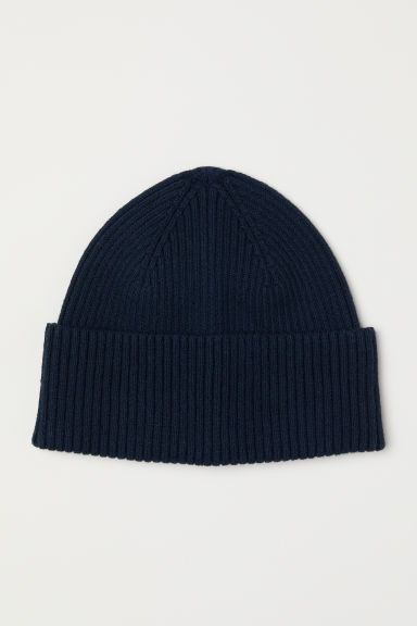 Ribbed hat - Dark blue -  | H&M CN