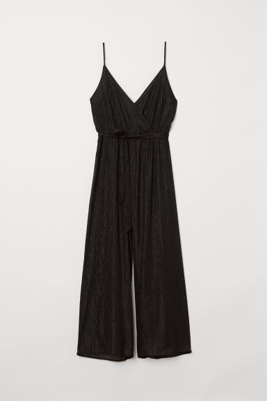 H&M+ Glittery Jumpsuit - Black - Ladies | H&M US