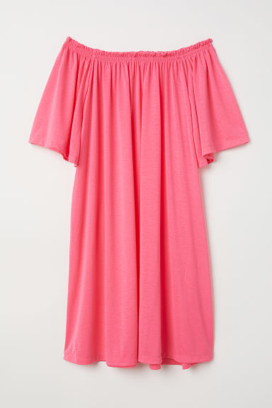 Off-the-shoulder dress - Pink - Ladies | H&M CN