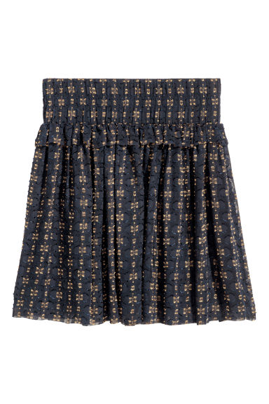 Jacquard-weave skirt - Black/Gold-coloured -  | H&M