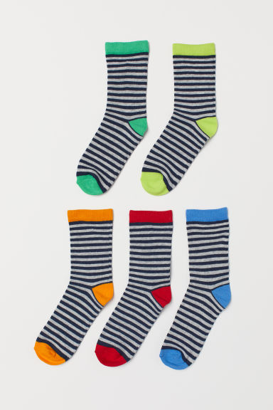 5-pack socks - Grey/Multicoloured - Kids | H&M