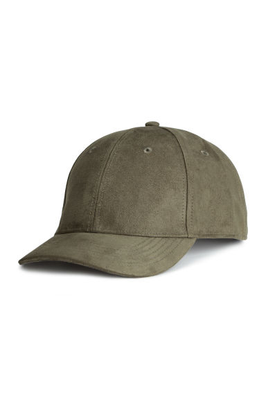 Imitation suede cap - Khaki green - Men | H&M CN