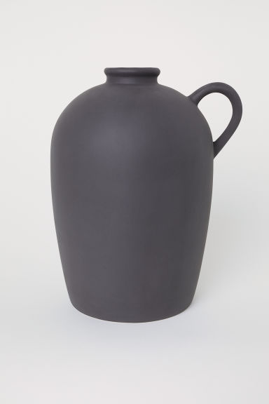 Stoneware vase - Anthracite grey - Home All | H&M CN