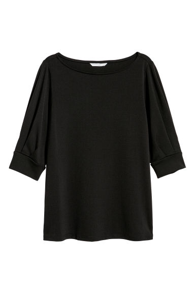 Crêpe top - Black -  | H&M IE