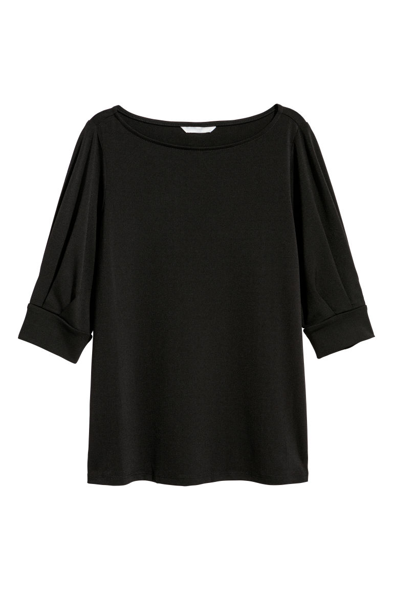 Crêpe top - Black - Ladies | H&M