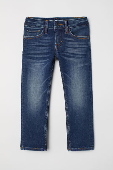 Super Soft Skinny Fit Jeans - Dark blue denim - Kids | H&M CN