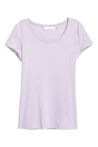 T-shirt - Lichtpaars - DAMES | H&M BE