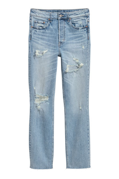 Vintage Slim High Jeans - Azul denim claro -  | H&M ES