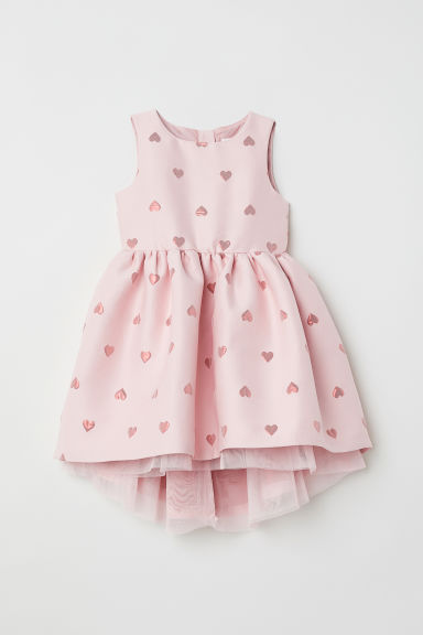 Jacquard-weave dress - Light pink/Hearts -  | H&M