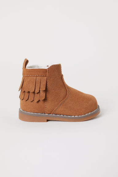 Warm-lined boots - Brown - Kids | H&M