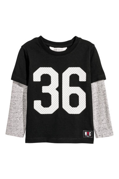 Jersey top - Black/36 -  | H&M CN