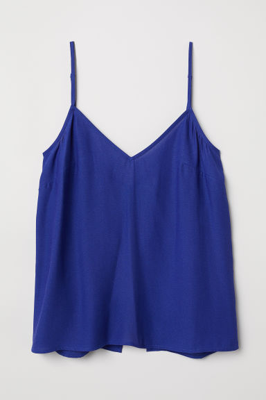 Open-backed strappy top - Cornflower blue -  | H&M CN