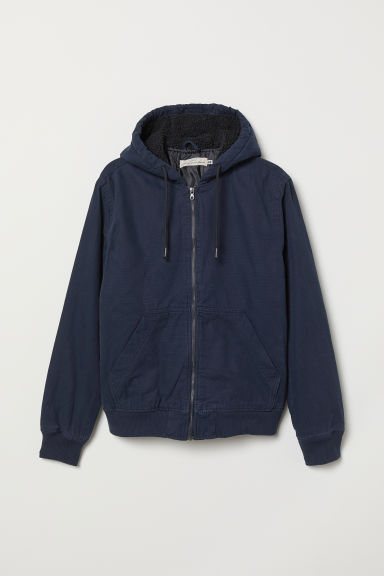 Padded jacket - Dark blue - Men | H&M CN