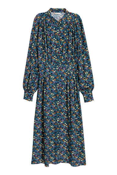 Dress - Dark blue/Patterned - Ladies | H&M