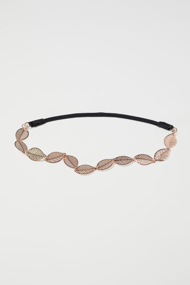 Hairband with metal leaves - Rose gold-coloured - Ladies | H&M