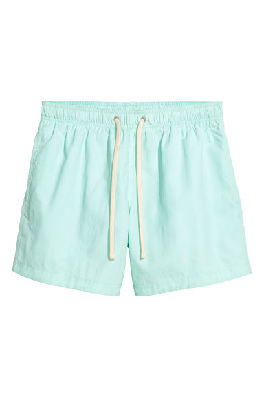 Swim shorts - Light mint green - Men | H&M