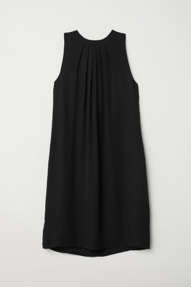 Crêped Dress - Black - Ladies | H&M US