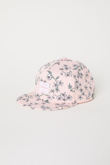 Printed cap - Powder pink/Floral - Kids | H&M