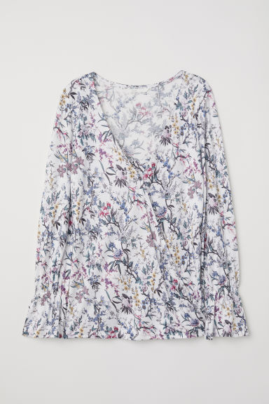 MAMA Nursing top - White/Floral - Ladies | H&M
