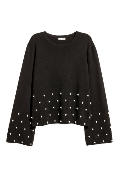 Pullover con perline - Nero - DONNA | H&M IT