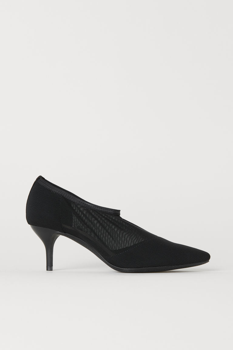 Mesh sock-style court shoes - Black - Ladies | H&M