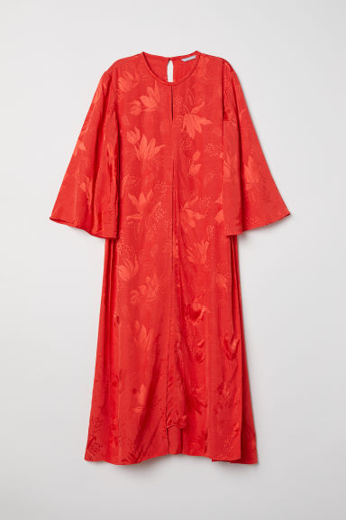 Jacquard-weave dress - Red - Ladies | H&M