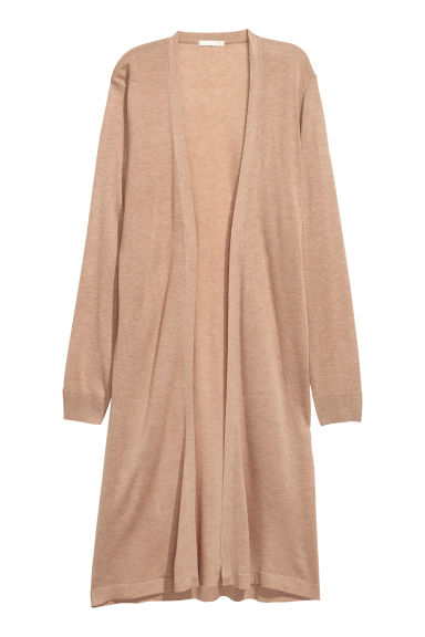 Knee-length cardigan - Beige - Ladies | H&M