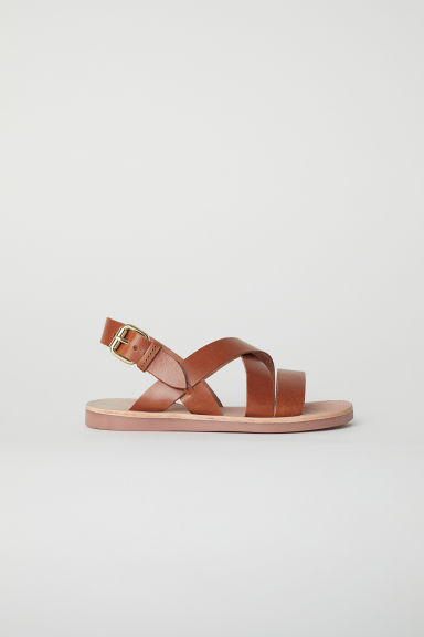 Leather sandals - Camel - Kids | H&M