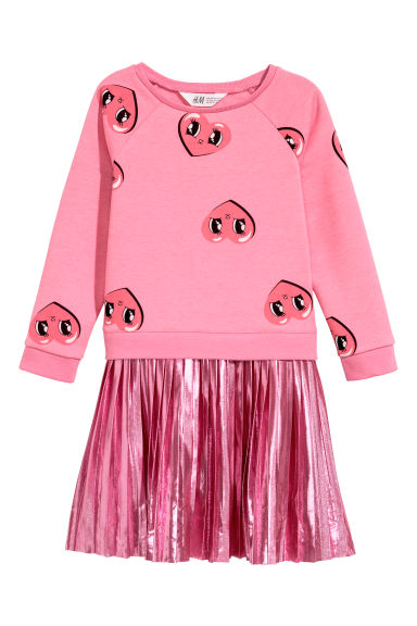 Sweatshirt dress - Pink/Metallic - Kids | H&M CN