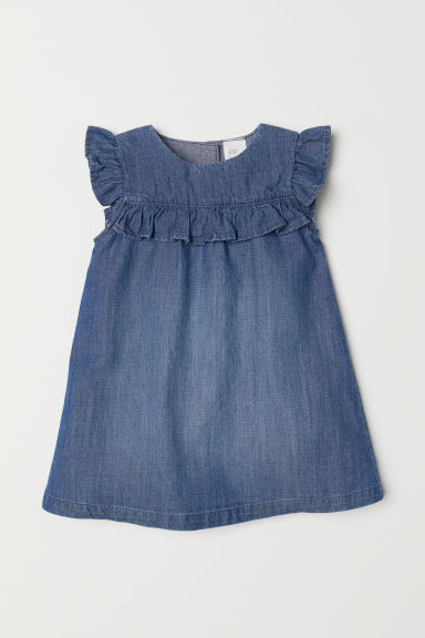 Sleeveless dress - Denim blue - Kids | H&M CN