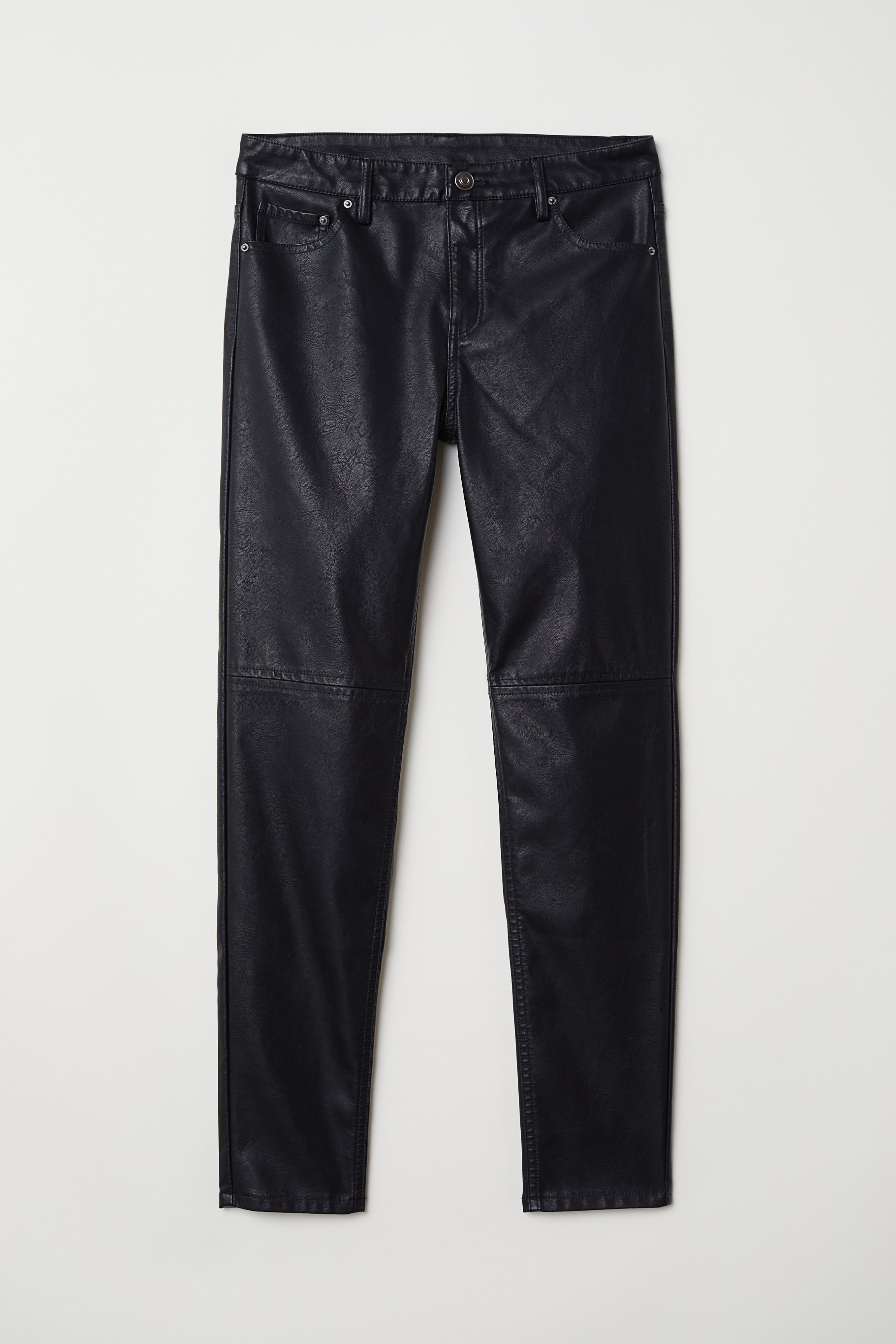Faux Leather Pants - Black - Ladies  75276c9be
