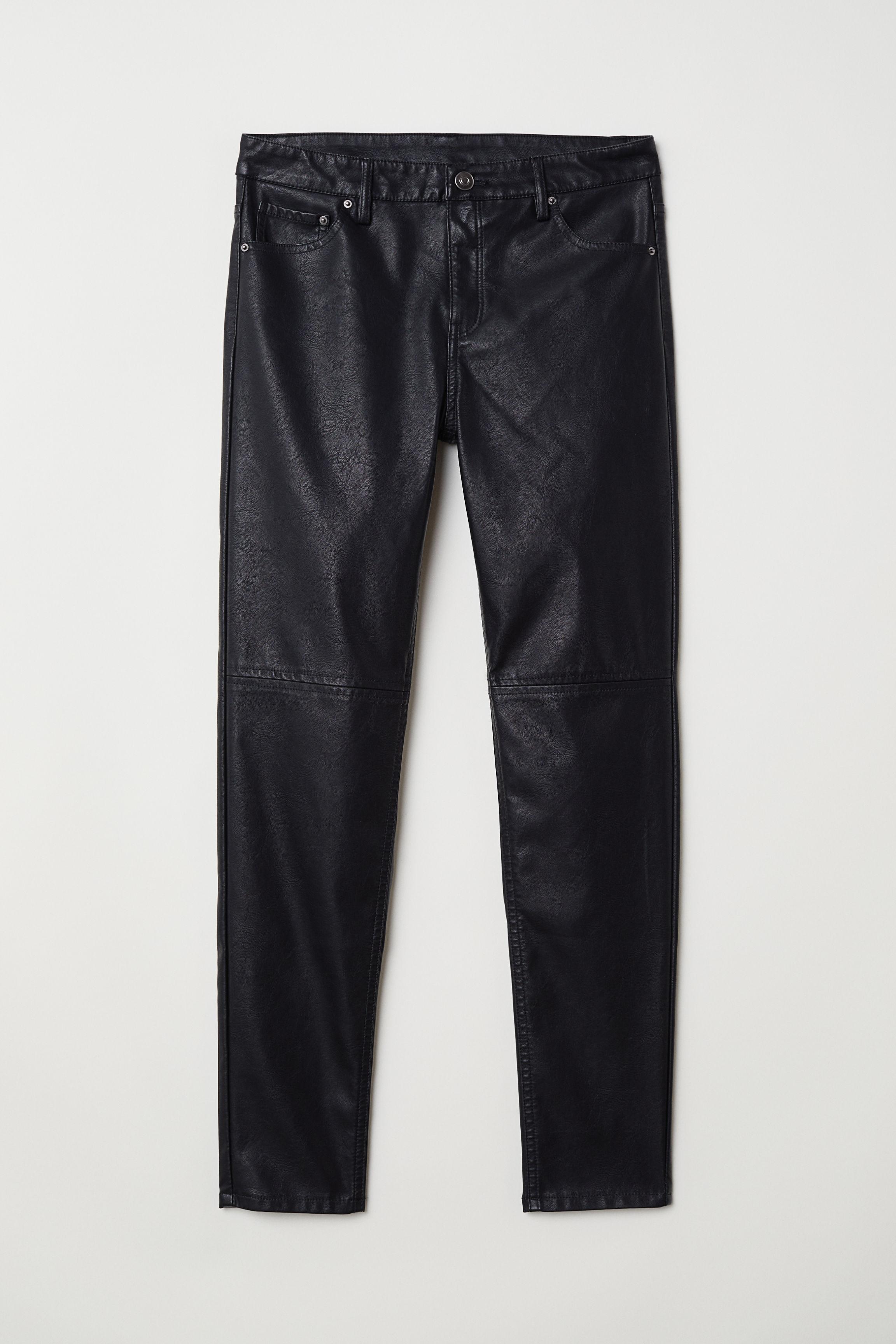 9efdb5c9ebf Koženkové kalhoty - Černá - ŽENY