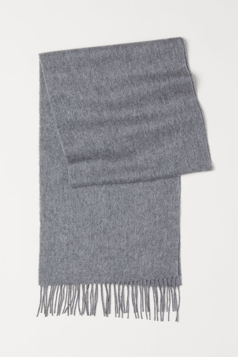 Wool scarf - Grey marl - Men | H&M