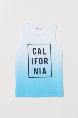 5d1d14302d029 Tank Top with Printed Motif