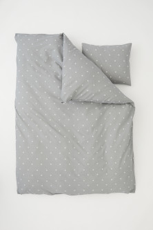 Star-print duvet cover set