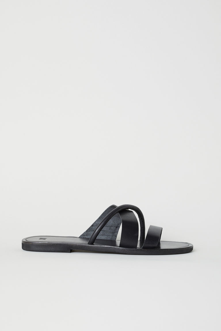 Leather Sandals - Black - Ladies | H&M US